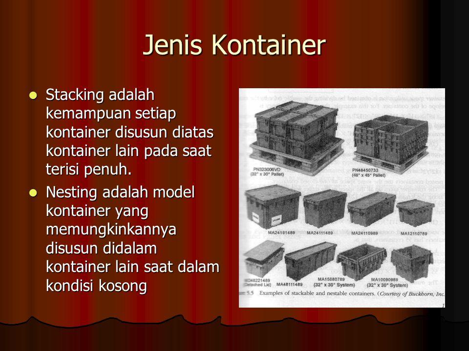 Jenis Kontainer Stacking adalah kemampuan setiap kontainer disusun diatas kontainer lain pada saat terisi penuh.