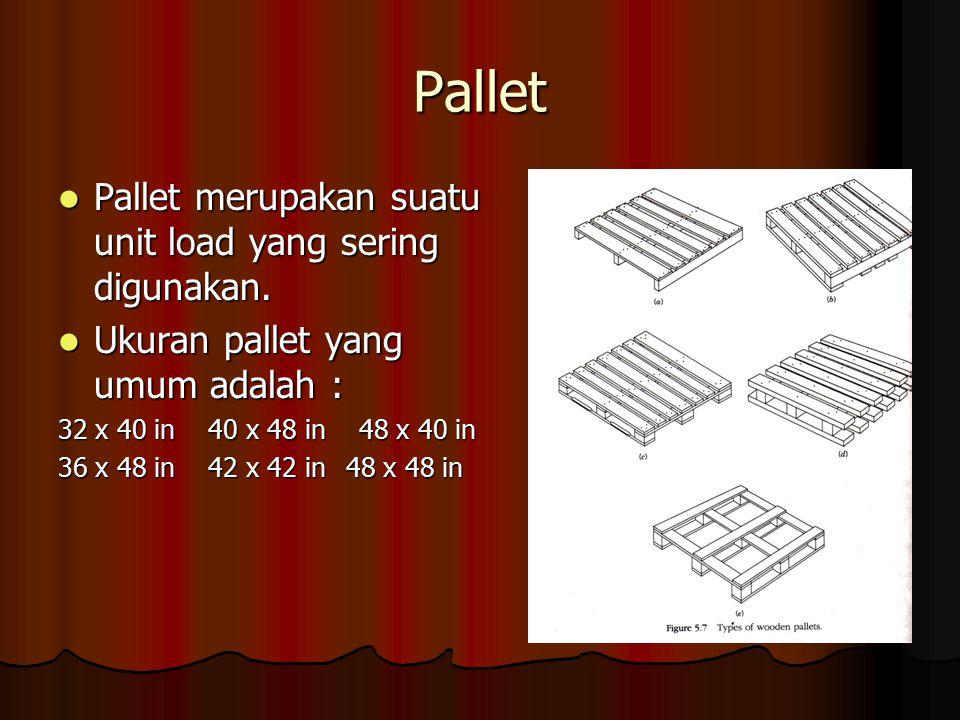 Pallet Pallet merupakan suatu unit load yang sering digunakan.