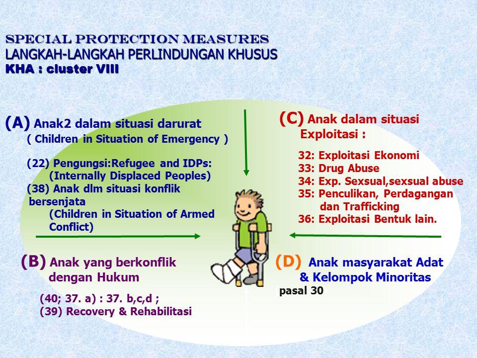 (A) Anak2 dalam situasi darurat