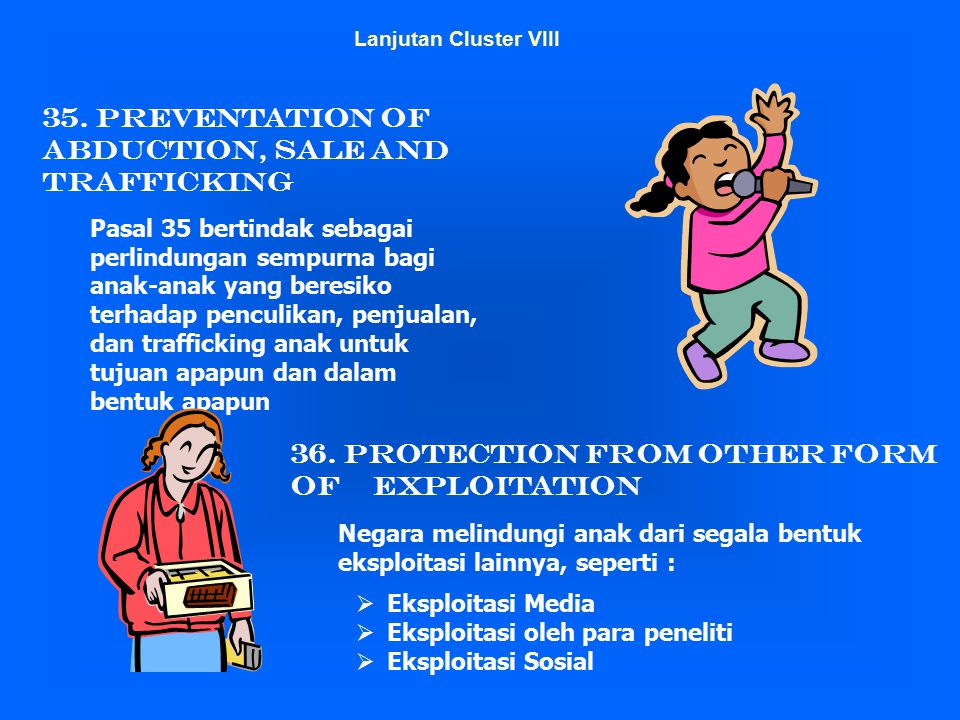 35. Preventation of Abduction, Sale and Trafficking