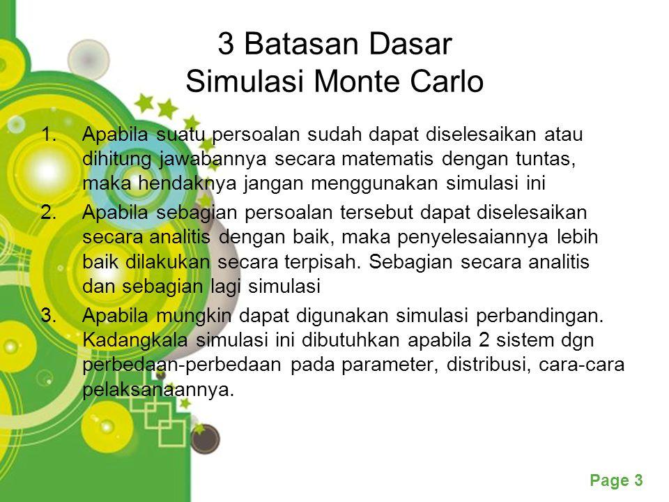 3 Batasan Dasar Simulasi Monte Carlo