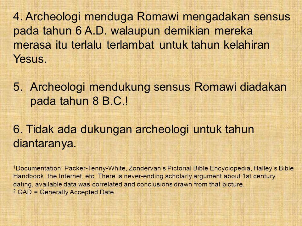 Archeologi mendukung sensus Romawi diadakan pada tahun 8 B.C.!