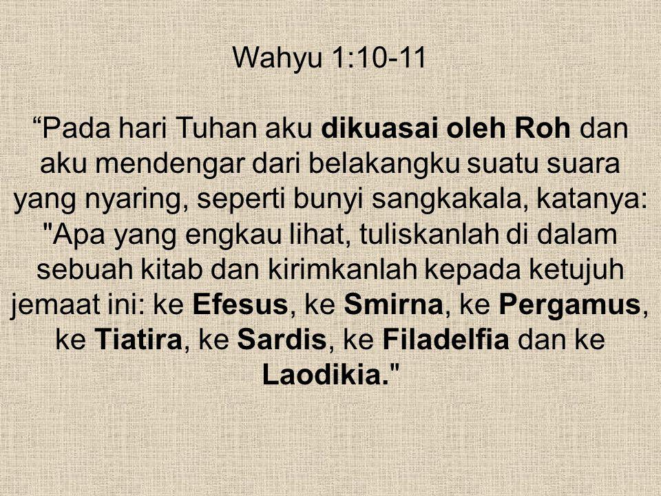 Wahyu 1:10-11