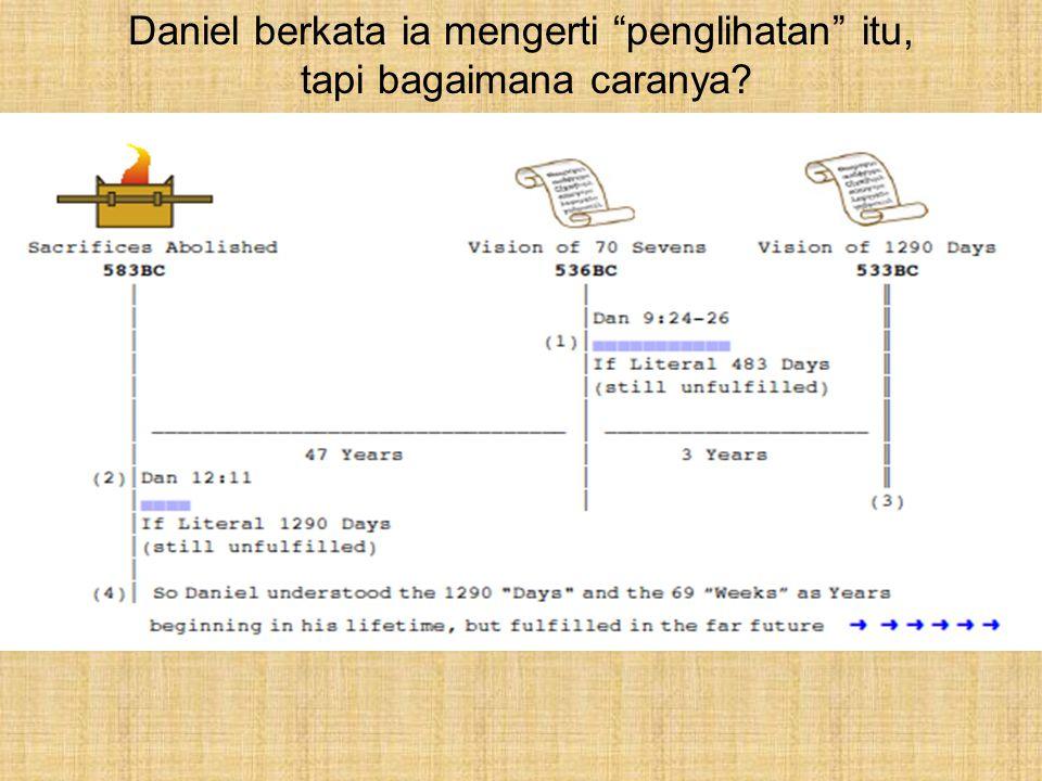 Daniel berkata ia mengerti penglihatan itu, tapi bagaimana caranya
