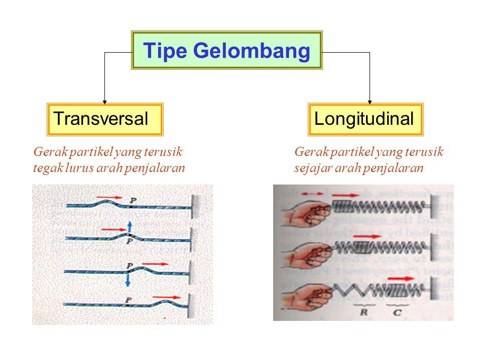Tipe Gelombang Transversal Longitudinal