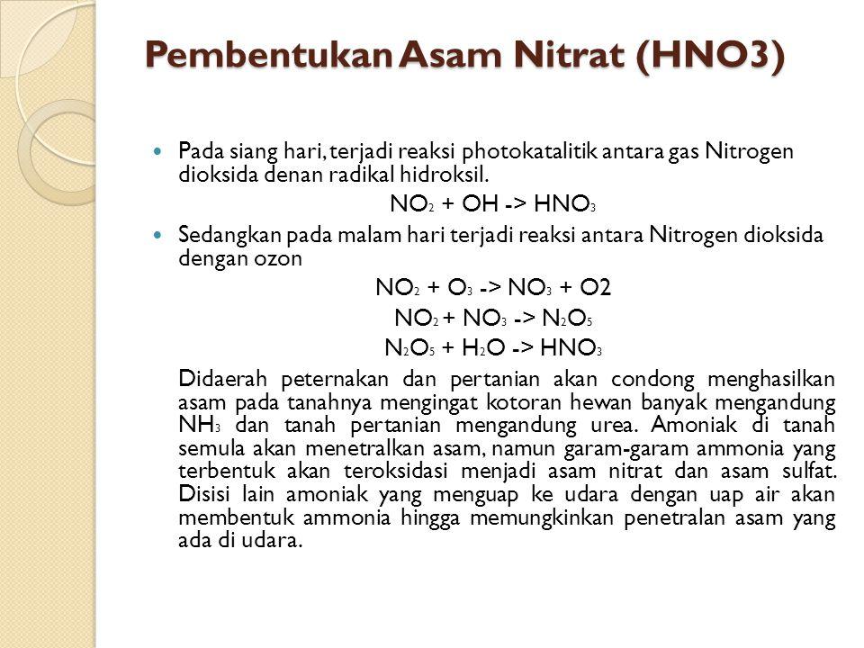Pembentukan Asam Nitrat (HNO3)