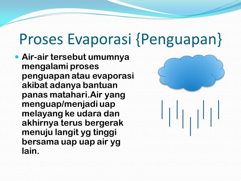Proses Evaporasi {Penguapan}