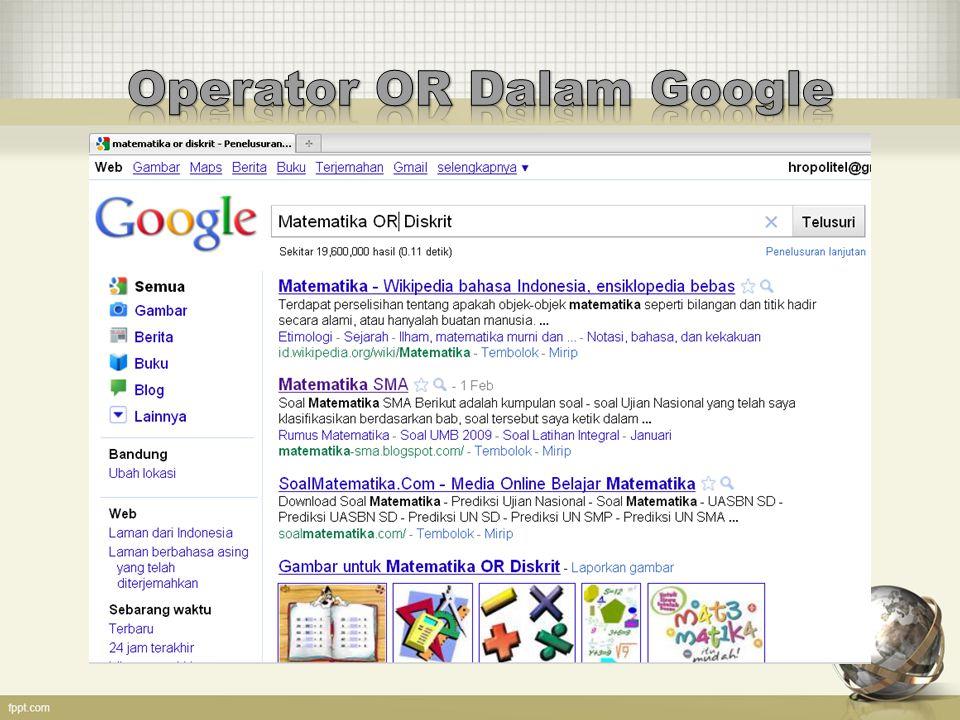 Operator OR Dalam Google
