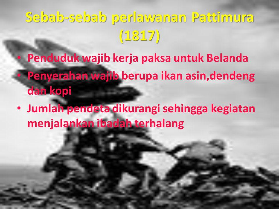 Sebab-sebab perlawanan Pattimura (1817)