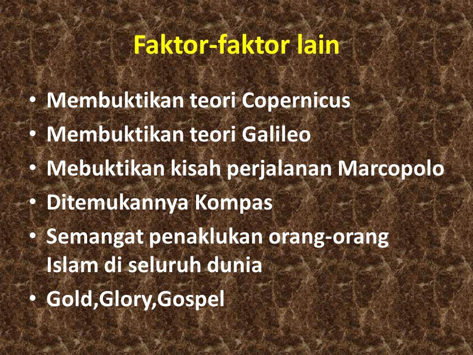 Faktor-faktor lain Membuktikan teori Copernicus