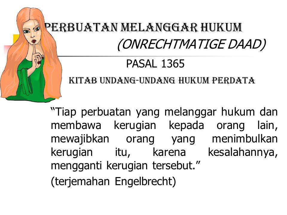 PERBUATAN MELANGGAR HUKUM (ONRECHTMATIGE DAAD)