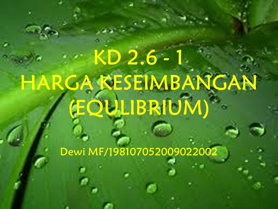 KD 2.6 - 1 HARGA KESEIMBANGAN (EQULIBRIUM)