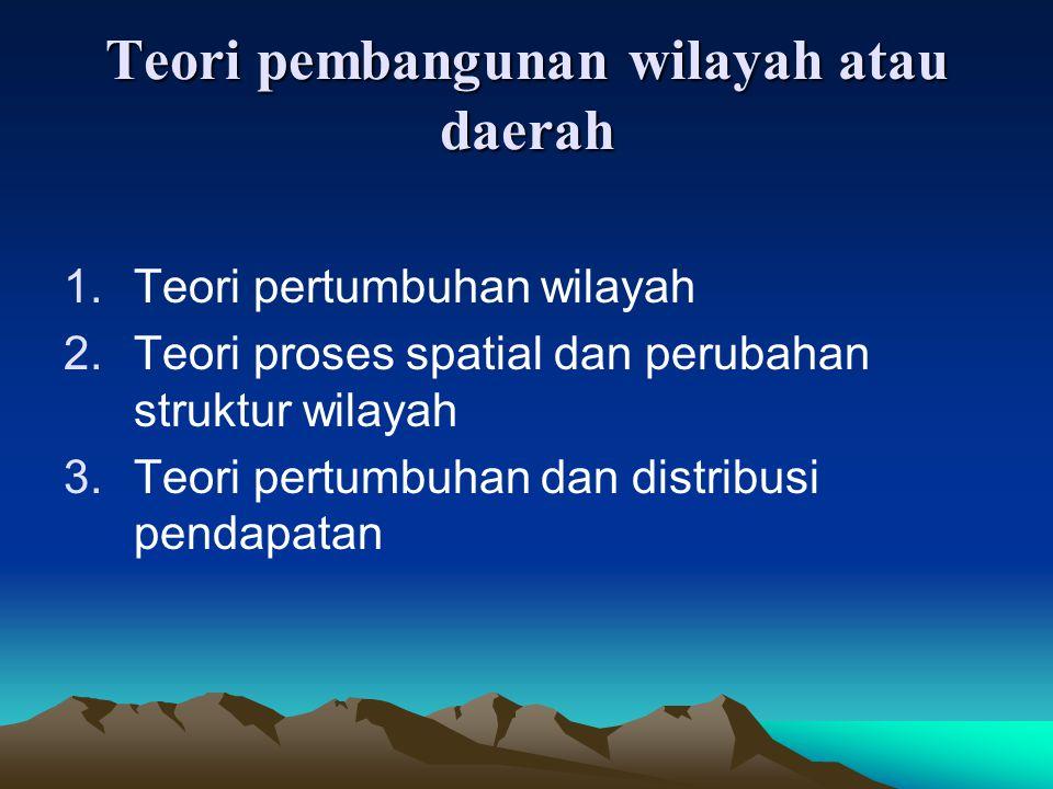 Teori pembangunan wilayah atau daerah
