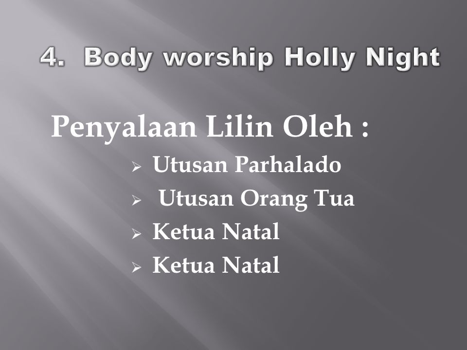 4. Body worship Holly Night