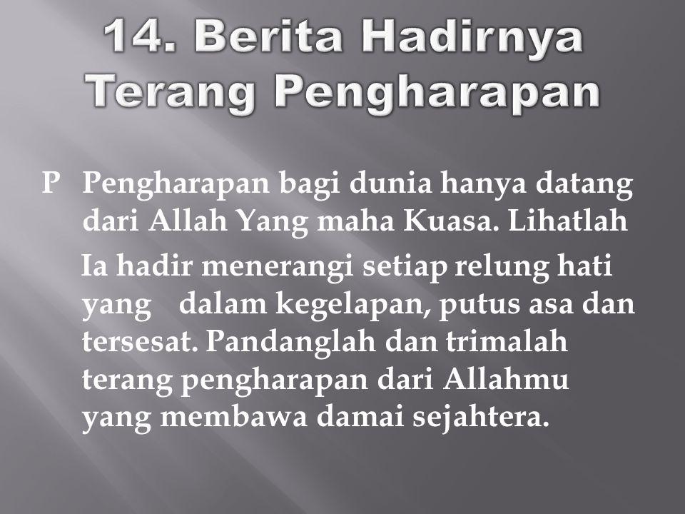 14. Berita Hadirnya Terang Pengharapan