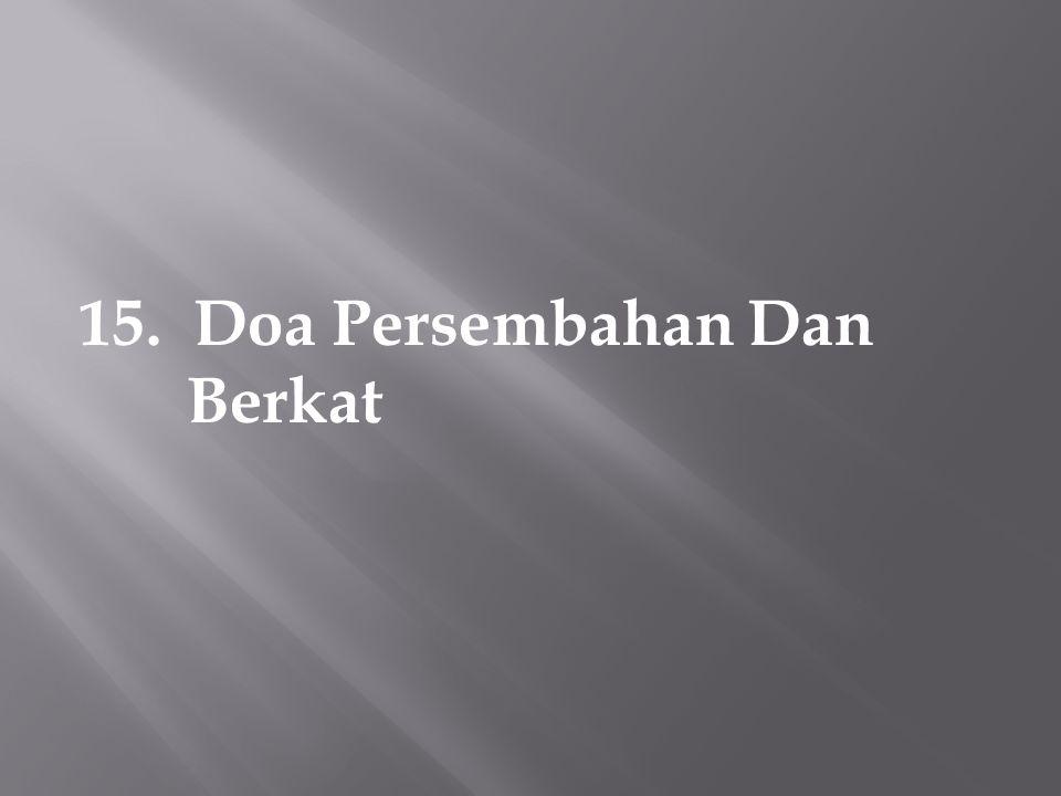 15. Doa Persembahan Dan Berkat