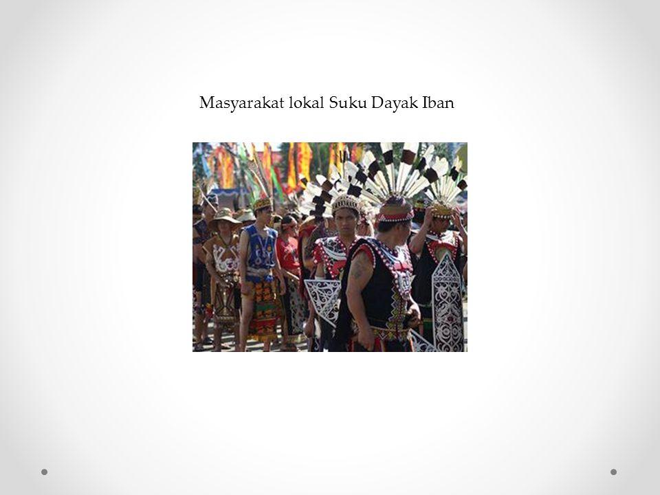 Masyarakat lokal Suku Dayak Iban