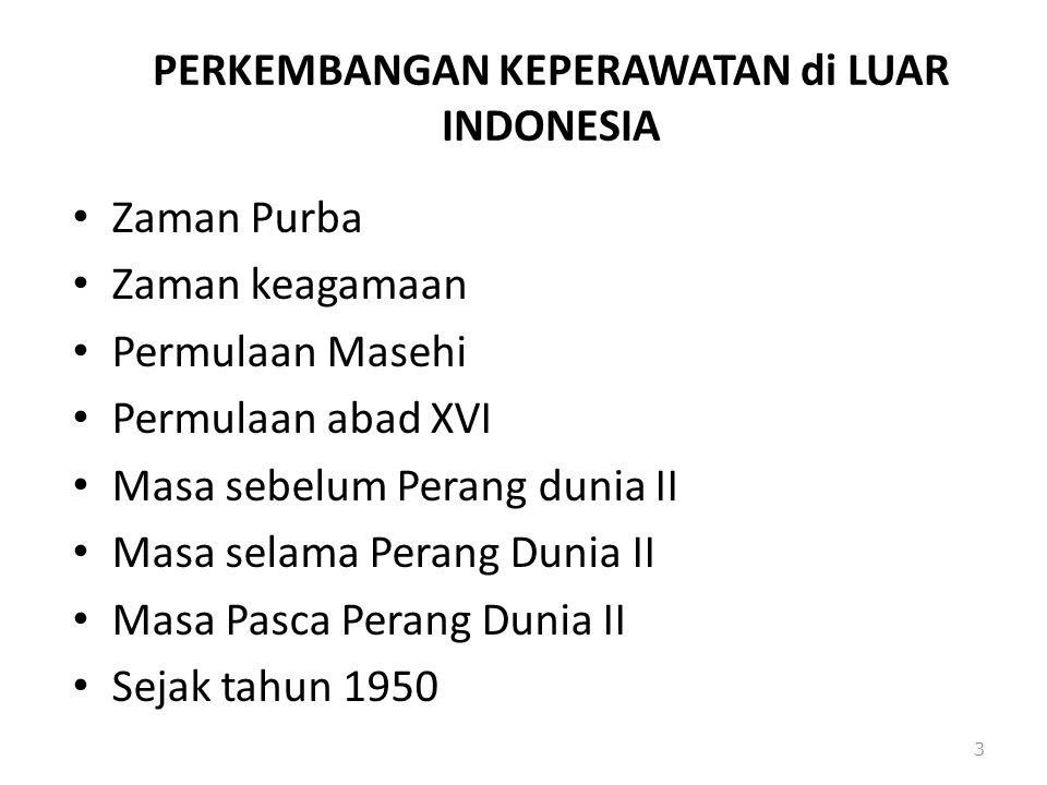 PERKEMBANGAN KEPERAWATAN di LUAR INDONESIA
