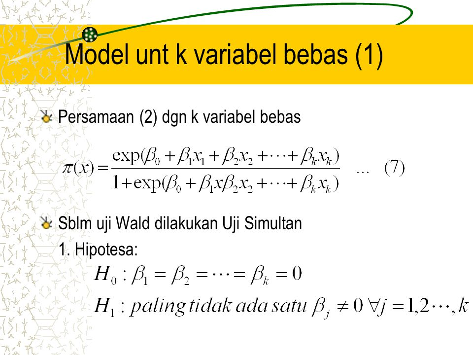 Model unt k variabel bebas (1)