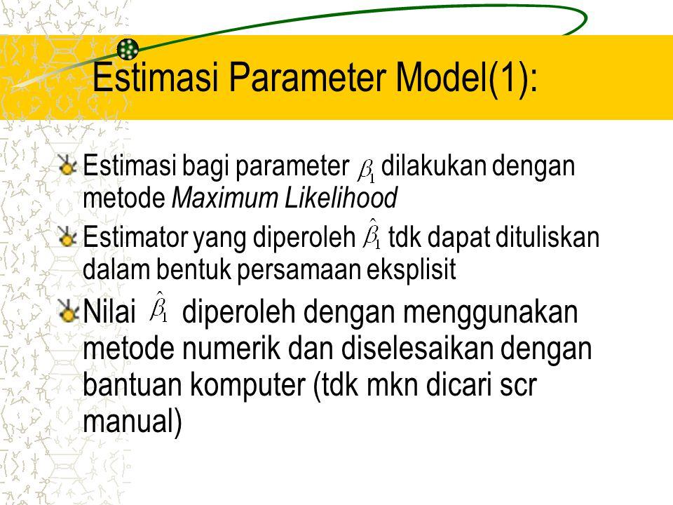 Estimasi Parameter Model(1):