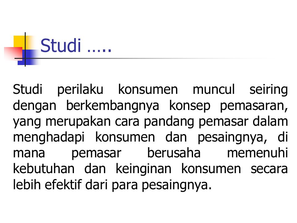Studi …..