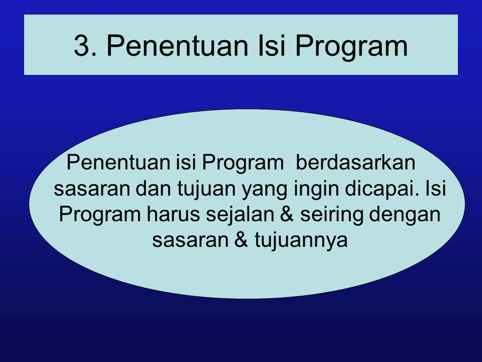 3. Penentuan Isi Program
