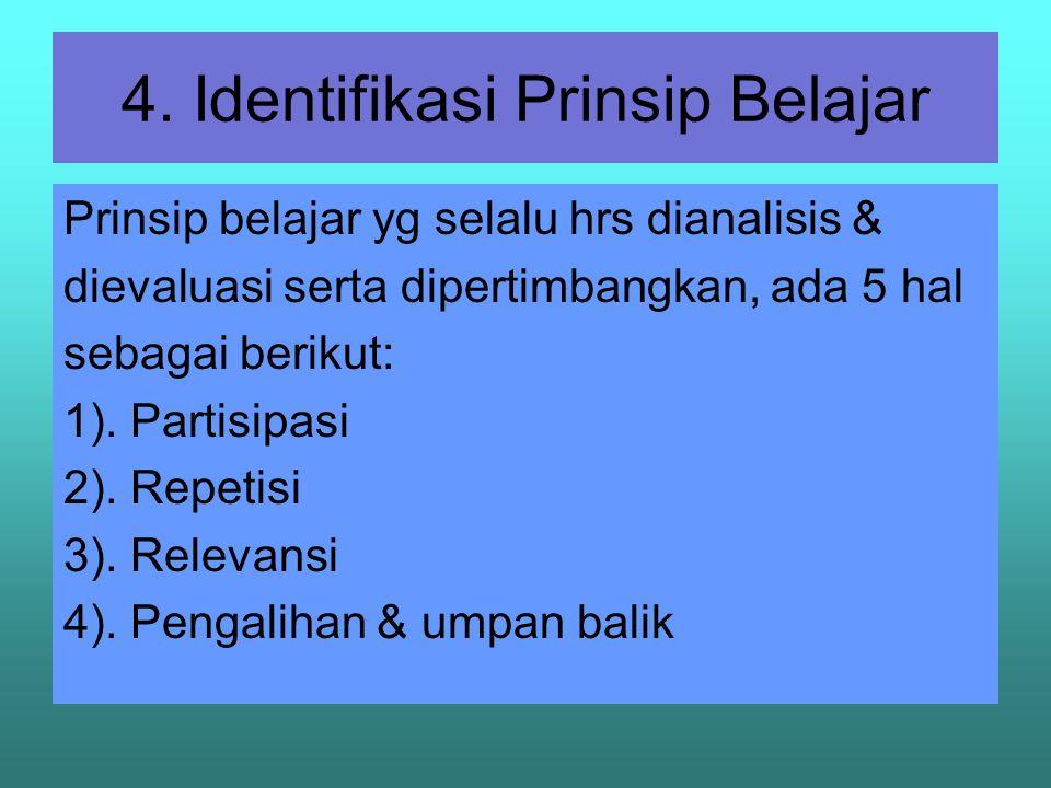 4. Identifikasi Prinsip Belajar