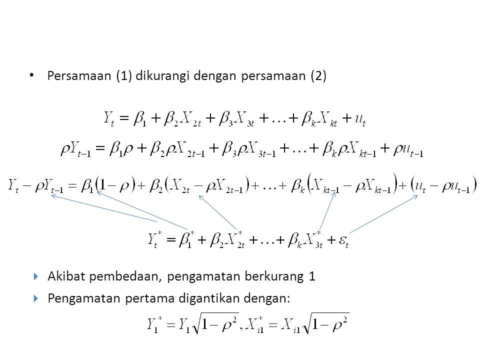 Persamaan (1) dikurangi dengan persamaan (2)