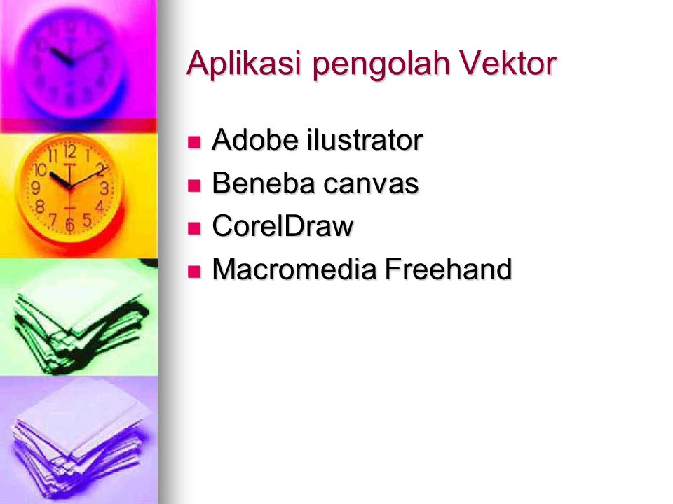 Aplikasi pengolah Vektor