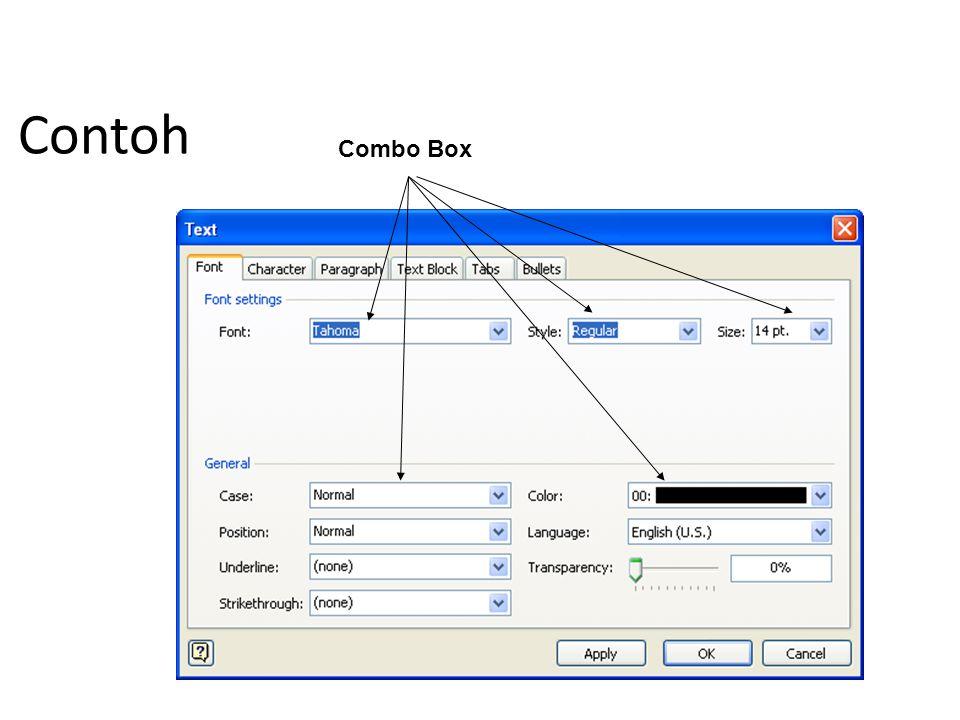 Contoh Combo Box