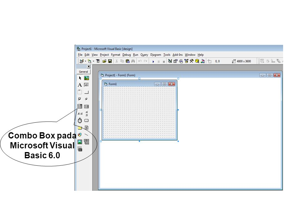 Combo Box pada Microsoft Visual Basic 6.0