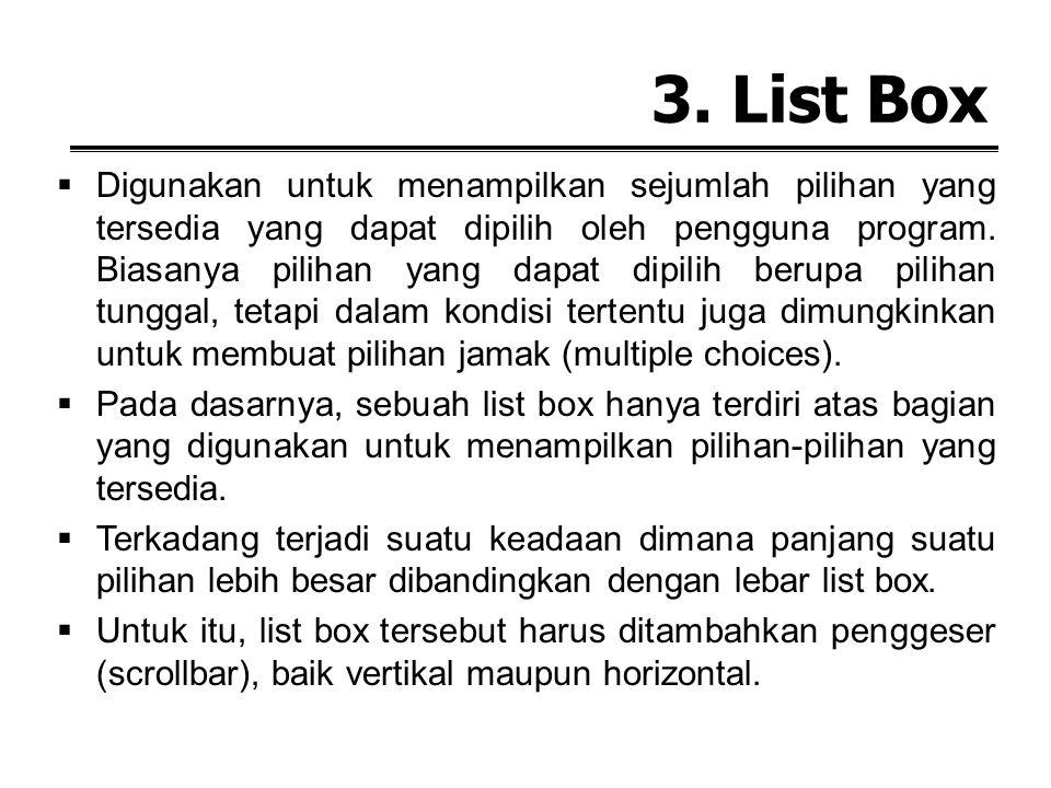 3. List Box