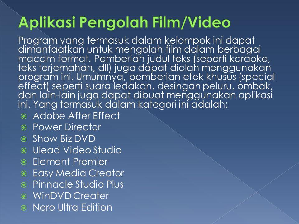 Aplikasi Pengolah Film/Video