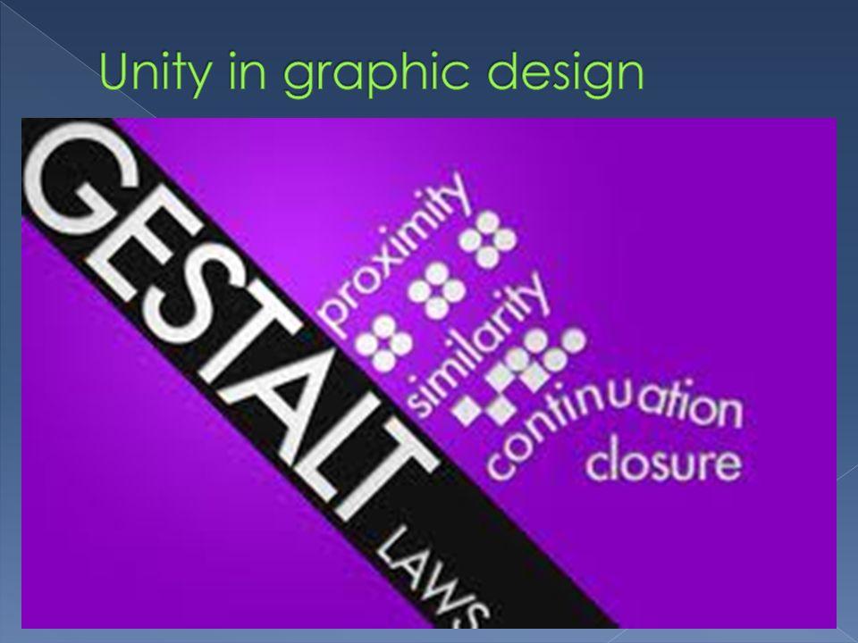 Unity in graphic design