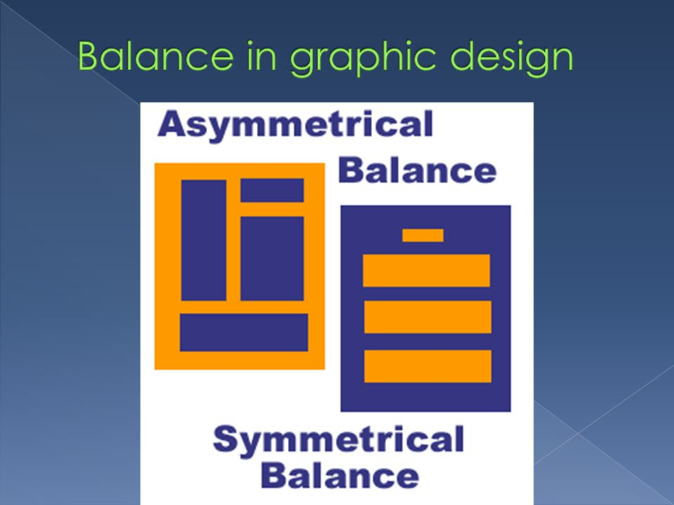 Balance in graphic design