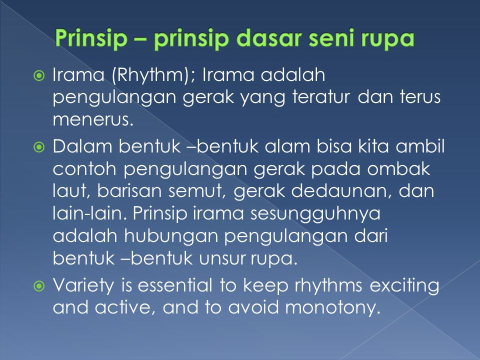 Prinsip – prinsip dasar seni rupa