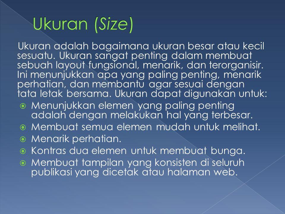 Ukuran (Size)