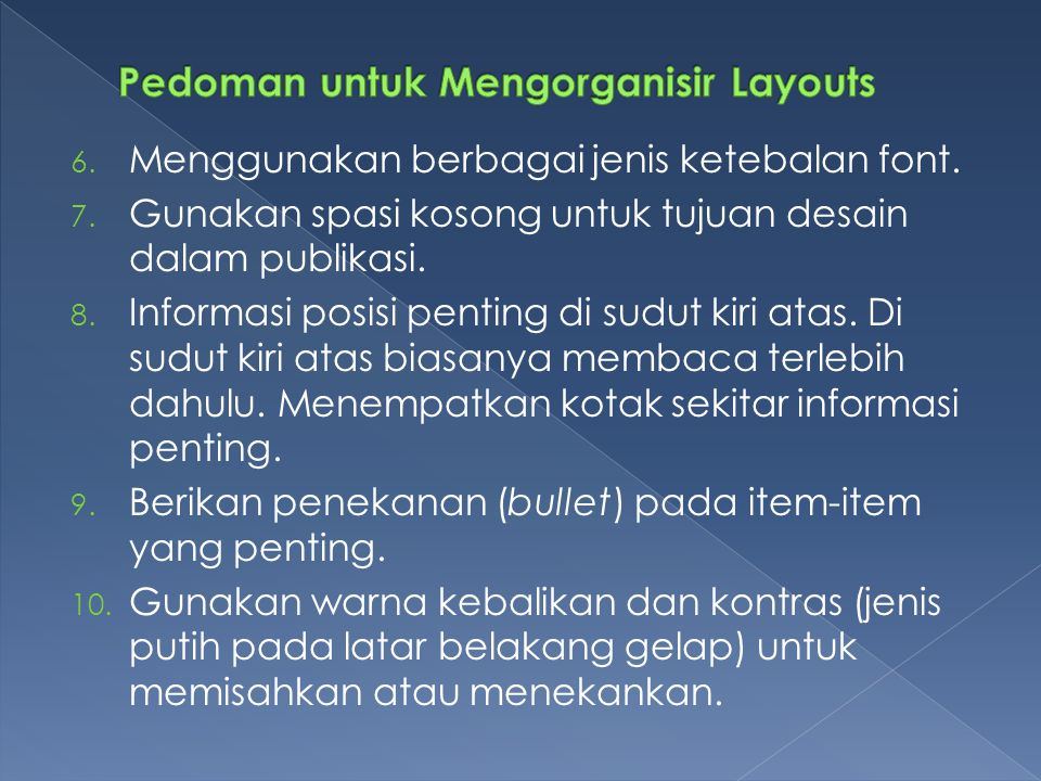 Pedoman untuk Mengorganisir Layouts