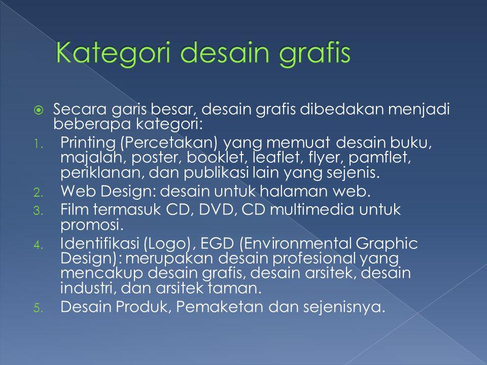 Kategori desain grafis
