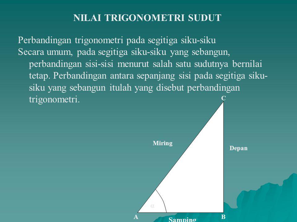 NILAI TRIGONOMETRI SUDUT
