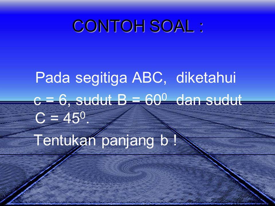 Pada segitiga ABC, diketahui