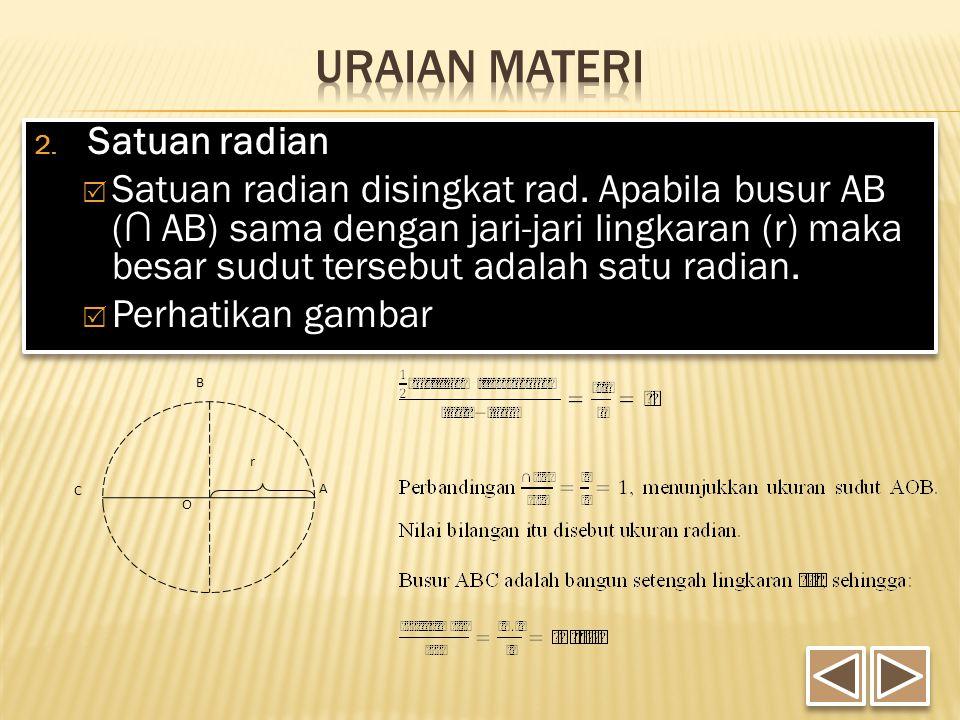 Uraian Materi Satuan radian
