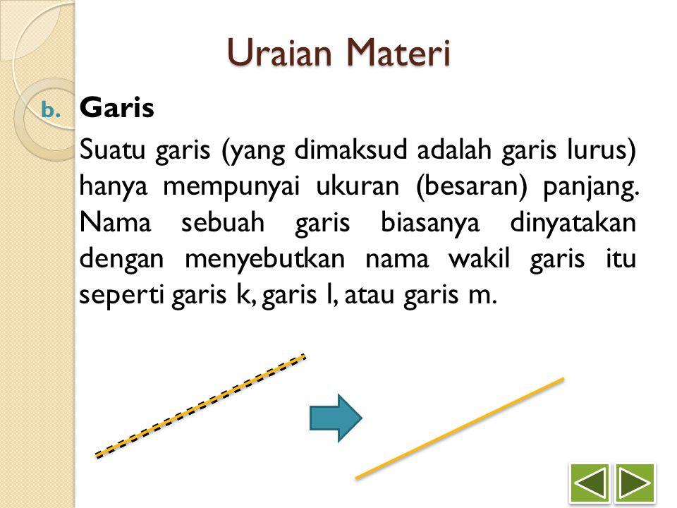 Uraian Materi Garis.