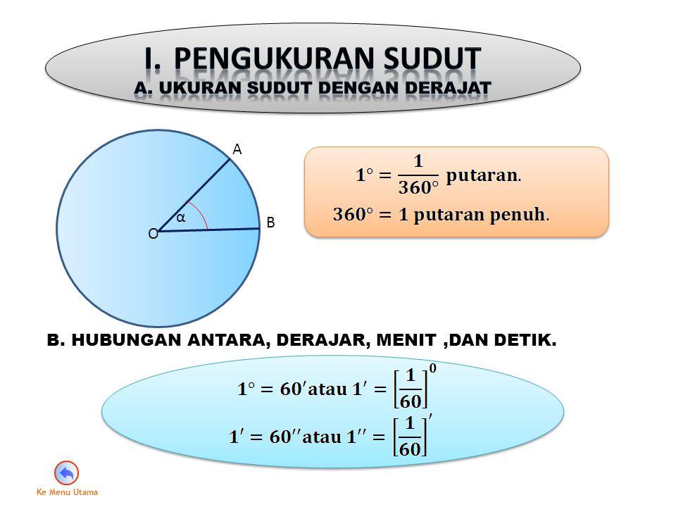 A. Ukuran Sudut dengan Derajat