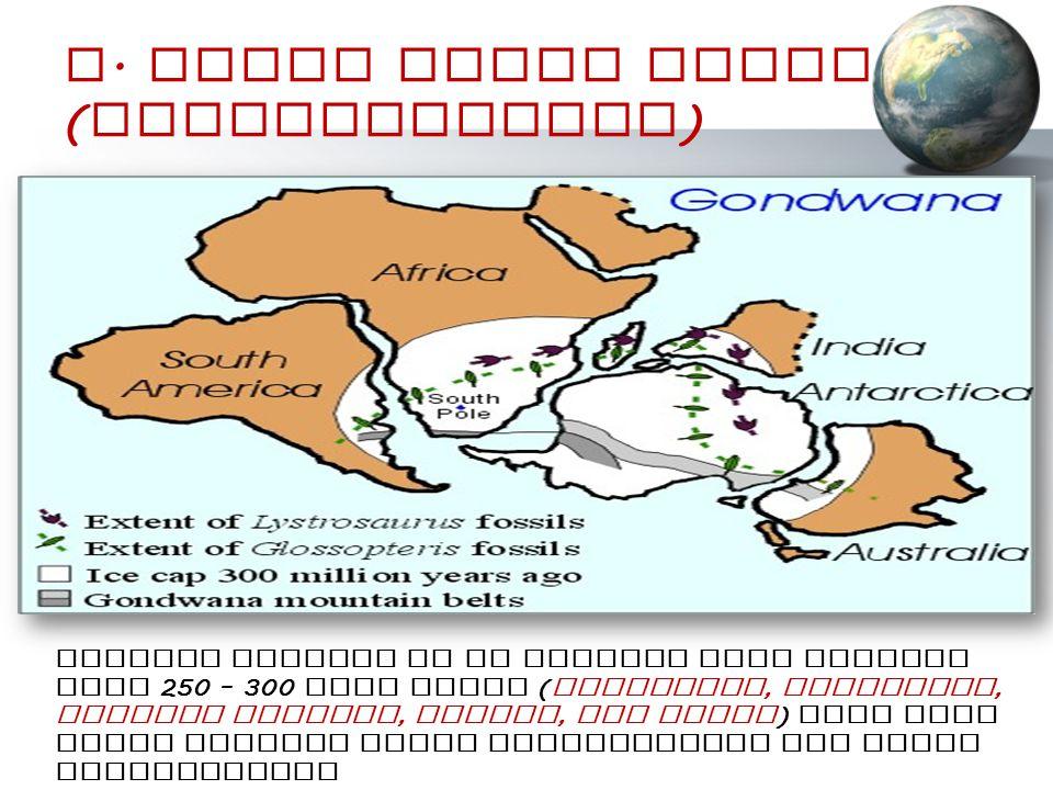 D. Bukti Iklim Purba (Paleoclimatic)