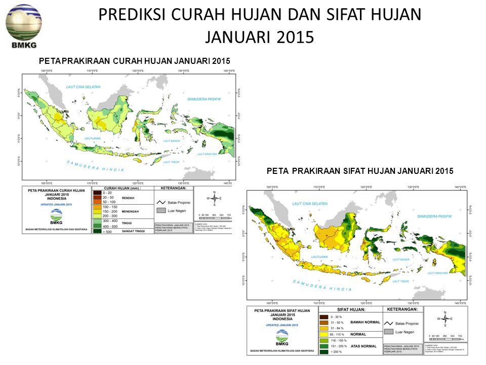 PREDIKSI CURAH HUJAN DAN SIFAT HUJAN JANUARI 2015