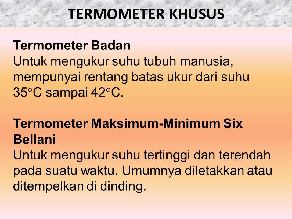 TERMOMETER KHUSUS Termometer Badan