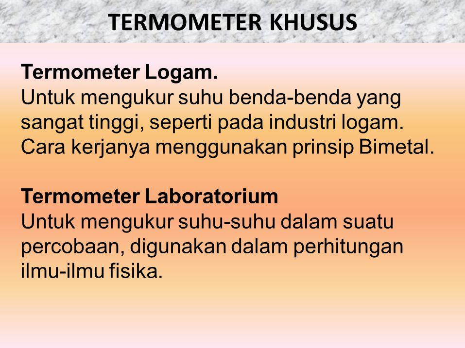 TERMOMETER KHUSUS Termometer Logam.