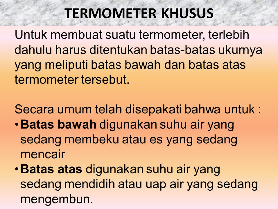 TERMOMETER KHUSUS