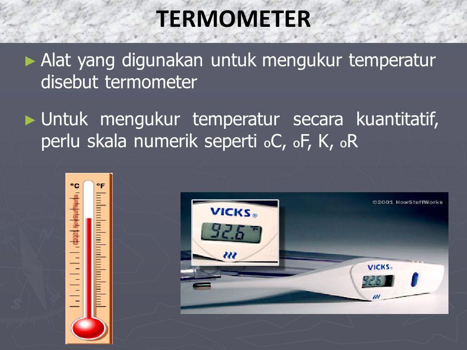 TERMOMETER disebut termometer